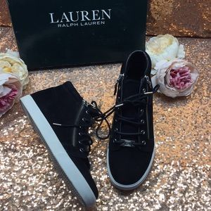 Ralph Lauren Black High Top Sneakers 8.5M